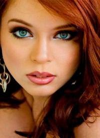 рыжие волосы зеленые глаза 1