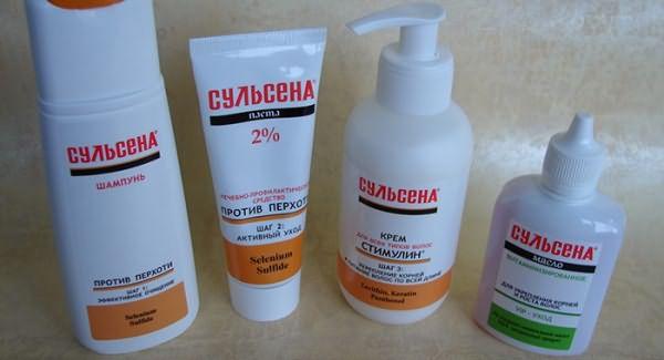 Продукция Сульсена для волос против перхоти