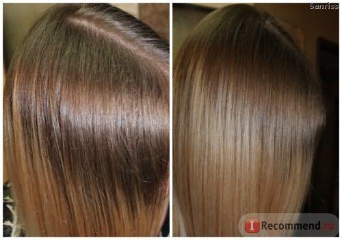 Вот так волосы отросли за год.