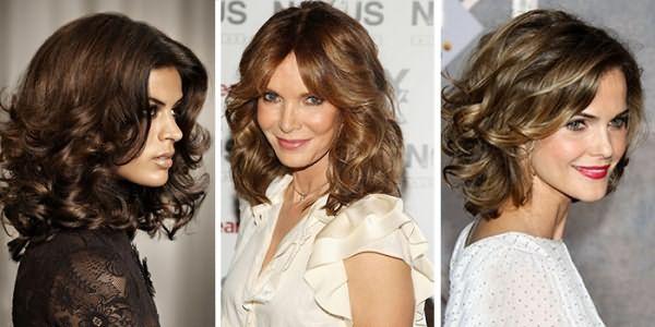 Каскад на волнистые волосы средней длины