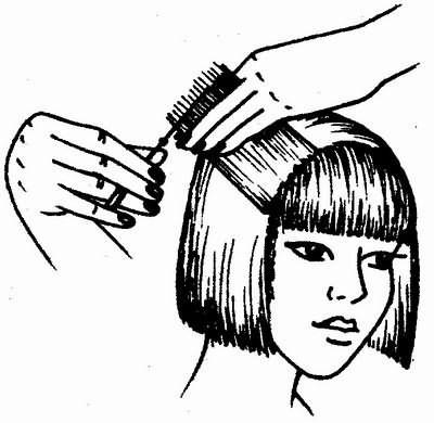 соединительная стрижка волос